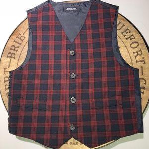 Boys Holiday plaid vest size 4T